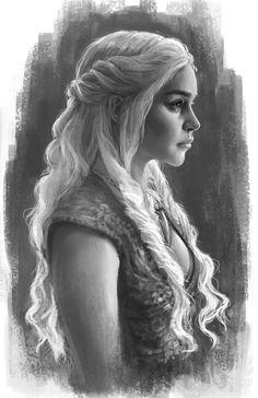 "gameofthrones-fanart: "" Beautiful Digital Painting of Daenerys Targaryen by GabbyFe """