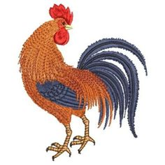 Farm Rooster embroidery design