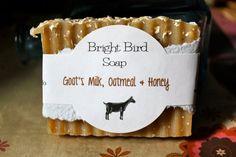Handmade Oatmeal Goatmilk and Honey Soap by brightbirdsoap on Etsy, $5.00