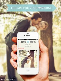 Actually great idea, classy design.... Collect your #wedding photos from your guests in one place FOR FREE! Your guests download the app and you instantly get all your wedding photos in one album on your phone & on your computer.