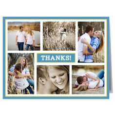 The Modern Photo Collage Thank You Card