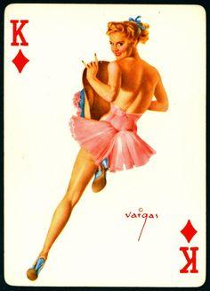 Alberto Vargas - Pin-up Playing Cards (1950) - King of Diamonds