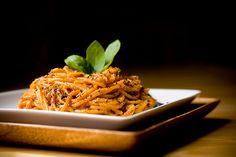 VEGAN Tomtao Basil Cream Pasta with Course Cracked Pepper