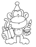So I have my normal BnW, Colored version freebie, BUT I also have a PDF that is a Quick Card for you to make for those that enjoy those kind. Digi Stamps Free, Digital Stamps, Coloring Book Pages, Coloring Sheets, Free Monkey, Monkey Birthday, Free Birthday, Birthday Ideas, Happy Birthday