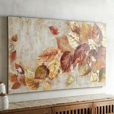 Tumbling Leaves Wall Art Pier - Let Our Lovely Leaves Add Naturally Sophisticated Style To Your Home Our Hand Painted Wall Art Mixes Perfectly With Other Neutral Tones But Is Easily Incorporated Into A Colorful Backdrop As Well Ma