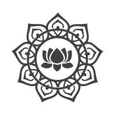 Yoga Symbols: 11 Spiritual Symbols To Empower Your Practice - New Ideas Buddha Symbols, Yoga Symbols, Spiritual Symbols, Tattoo Symbols, Lotus Tattoo, Mandala Tattoo, Ganesha Tattoo, Lotus Mandala, Tattoo Ink