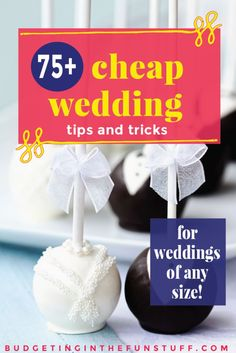 Wedding budgets can get out of control in a hurry. I love this list of cheap wedding tips and tricks. They'll help me have an epic day with a small budget. It's hard to know what to DIY, what to skip to save and what to splurge on. I love finding ways to keep costs down but but still be fabulous Simple ideas like shopping at dollar stores for decor make complete sense. PIN THIS FOR WEDDING PLANNING!