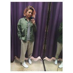 #khaki craving today in @topshop ✨ not sure if I look a bit boyish though...