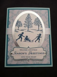 Lovely as a Tree Christmas card-new foil paper and dsp from the holiday catalog