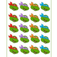 stickers, toppers, etc. 3rd Birthday Party For Boy, Turtle Birthday Parties, Ninja Turtle Birthday, Ninja Turtle Party, Fairy Birthday Party, Ninja Party, Teenage Ninja Turtles, Kids Party Decorations, Party Ideas