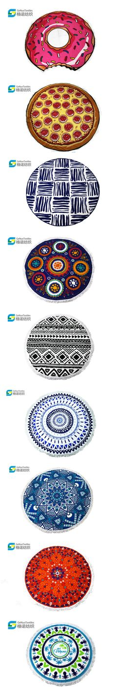 Microfiber round beach towels. Also for family picnic time, and for having rest after outdoor activities.