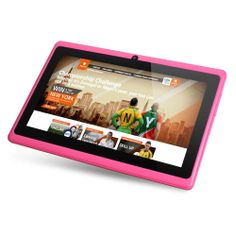 Riin 7-inch Capacitive Tablet Pc Android 4.0 Allwinner A13, 1.2g Hz Cpu+512mb Ddr3+4gb Flash Color Pink