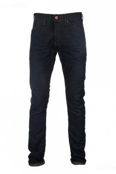 Scotch & Soda Phaidon Green Track Jeans in Dark Blue at Intro