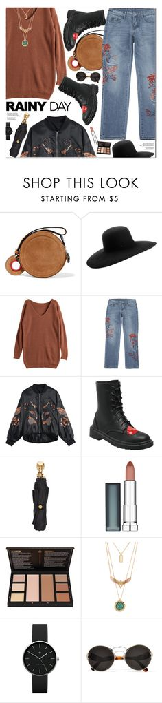 """Rainy Day Style"" by oshint ❤ liked on Polyvore featuring Carven, Maison Michel, Alexander McQueen, Maybelline, Newgate and Prada"
