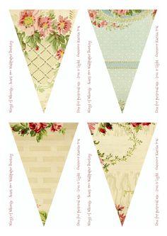 Vintage wallpaper bunting/banner                                                                                                                                                      More