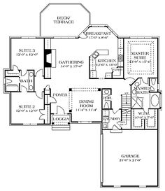 The Glenmoor House Plans First Floor Plan - House Plans by Designs Direct. with a few changes this is a good plan