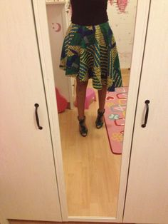 African print skirt home-made by me I'm trying!! Africa swag!!