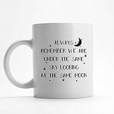 Long distance relationship mug, Gift for boyfriend or girlfriend, We are under the same sky