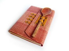 Recipe book with wooden spoon. (by a LexLibris)  OMG!!!!