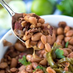 These Slow Cooker Mexican Beans are the best compliment to your favorite Mexican meal. They taste just like an authentic Mexican restaurant, and they are delicious on their own or with my Authentic Mexican Rice. On any given day, if you were to ask me what my favorite type of food is, it would be Mexican. But to be honest, even though we have some great ones in Southern California, I'm not a huge fan of Mexican restaurants. In my experience, you just can't beat homemade. This particular…