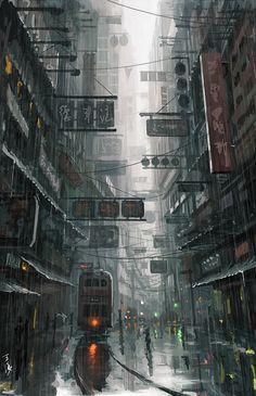 Ideas For Illustration Art City Cyberpunk Cyberpunk City, Ville Cyberpunk, Futuristic City, Cyberpunk Aesthetic, Environment Concept, Environment Design, World Environment Day, City Art, Art In The City