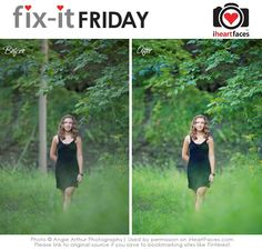 Join in Fix-It Friday - a weekly photo editing challenge hosted by iHeartFaces.com!