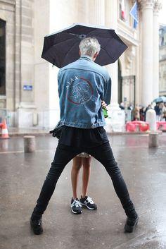 They Are Wearing: Paris Men's Fashion Week Spring 2015 - Slideshow Ajax denim jacket Style men tumblr