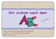 Frau Locke: Kartei - ABC ordnen 2. Klasse Teil B