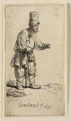 Mijn favoriete Rembrandt in Teylers Museum: Boer met muts, leunend op wandelstok (B133)