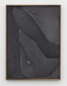 Anthony Pearson - Untitled (Plaster Positive), 2015, pigmented hydrocal in walnut frame, 59 1/2 x 43 1/2 x 3 inches (151.1 x 110.5 x 7.6 cm), unique