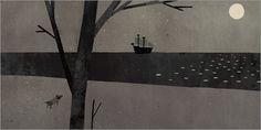 """Jon Klassen, detail of illustration for """"Extra Yarn"""" by Mac Barnett"""