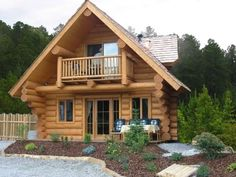 Cabins And Cottages: 100 Small Log Cabin Homes Ideas Small Cabin Plans, Small Cottage House Plans, Small Cottage Homes, Small Log Cabin, Log Home Plans, Tiny House, Wood Cottage, Log Cabin Plans, Small Cabins