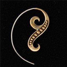 真鍮とシルバー イヤリング by RonIbiza
