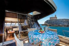 Rent your private motor yacht in Rhodes with us! Аренда моторных яхт на острове Родос Private Yacht, Mediterranean Sea, Day Tours, Greece, Boat, Vacation, Photo And Video, Cruises, Exploring