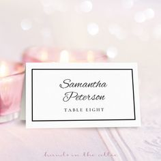 FREE DIY Printable Place Card Template and Tutorial | Card ...