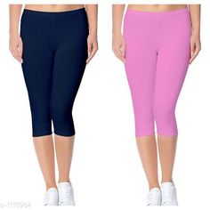Capris Trendy Cotton Lycra Capris Leggings Fabric: Cotton Lycra Size: Up To 28 in to 36 in( Free Size) Length: Up To 34 in  Type: Stitched Description: It Has 2 Piece Of Women's Capris Pattern: Solid Country of Origin: India Sizes Available: Free Size, 24, 26, 28, 30, 32 *Proof of Safe Delivery! Click to know on Safety Standards of Delivery Partners- https://ltl.sh/y_nZrAV3  Catalog Rating: ★4 (2888)  Catalog Name: Alice Trendy Cotton Lycra Capris Combo Leggings CatalogID_136944 C79-SC1037 Code: 742-1110964-