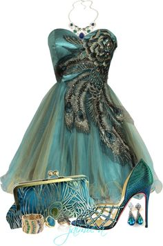 """""""Peacock Party Dress"""""""