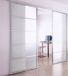 Modern Glass Doors – Custom glass  aluminum interior doors by EFI