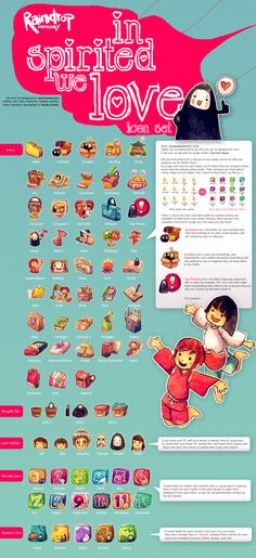 In Spirited We Love Icon Set [Repost] by Raindropmemory.deviantart.com on @deviantART