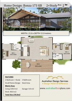House Plan :173 Kr 2 Bedrooms Plus Study   Floor Plan Pole Home