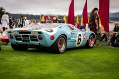 One of 19 GT40s, this one sporting the iconic Gulf Oil orange and blue color…