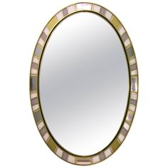 1970s Refined One-of-a-Kind Italian Oval Mirror | From a unique collection at www.cosulichinteriors.com