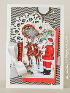 n2s : I love her use of large tags as the focal point ♥ ♥ ♥ My creative corner: Inspired by Christmas music!