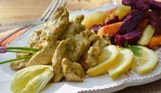 Troll a konyhámban: Pesztókrémes csirkemell, fokhagymás pirított édesb...