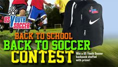 Want to win a backpack full of prizes? Check out the contest section on YouthSoccerMonth.org to see what you could win in September! Us Youth Soccer, Back To School, Backpack, September, Check, Bag Pack, First Day Of School, Entering School, Travel Backpack