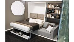 Murphy Bed With Sofa And Desk.Sofa Murphy Beds Unique Custom Wall Beds From FlyingBeds . Modern Folding Wall Bed Hidden Wall Bed Murphy Bed With . Bedroom: Extraordinary Murphy Bed Costco With Amazing . Home and Family Murphy Bed With Sofa, Modern Murphy Beds, Murphy Bed Plans, Modern Sofa, Bedroom Modern, Cama Murphy, One Room Flat, Fold Up Beds, Bed Wall