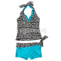 2pcs #girls kids zebra #swimsuit tankini set swimming bathers #beachwear age 7-14, View more on the LINK: http://www.zeppy.io/product/gb/2/222005531720/