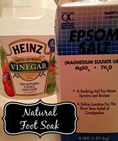 All natural foot soak leaves skin softer and help to heal and prevent cracked heels