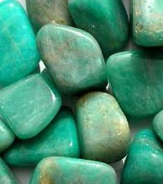 ∆ Amazonite...stone of truth, honor, communication, integrity and trust; heals emotional trauma, balances the male/female energies, increases physical stamina, helps you receive inspiration from the heart and then motivates you to take action on the inspired thoughts, attracts luck, enhances intuition, good to use when doing tarot