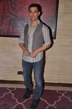 Indian film actor, Aamir Khan...